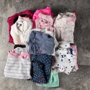 27 pc Bundle Girls 3 month Baby Clothes Variety